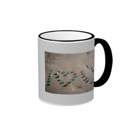 Sea Glass Marble Galore Ringer Coffee Mug