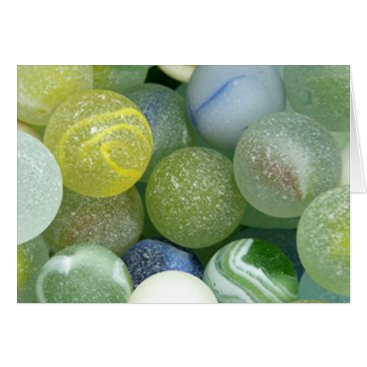 thestrandlineart Sea Glass Marbles Card