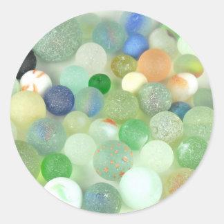 Sea Glass Marbles Classic Round Sticker