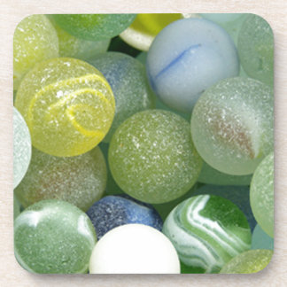 Sea Glass Marbles Drink Coaster