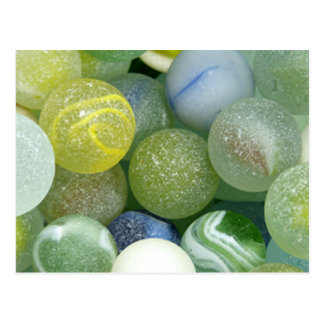 Sea Glass Marbles Postcard