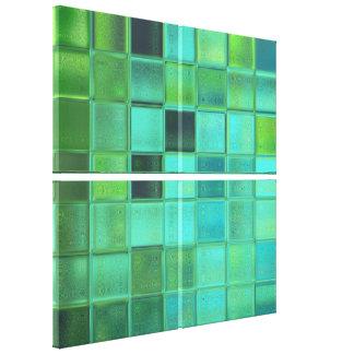 Sea Glass Mosaic Art Wrapped Canvas Set