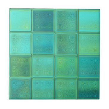 MarieFlorence Sea Glass Mosaic Ceramic Tile