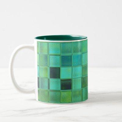 Sea Glass Mosaic custom mug in various styles