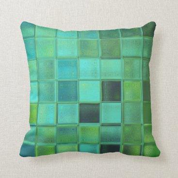 MarieFlorence Sea Glass Mosaic Pillow home decor gift