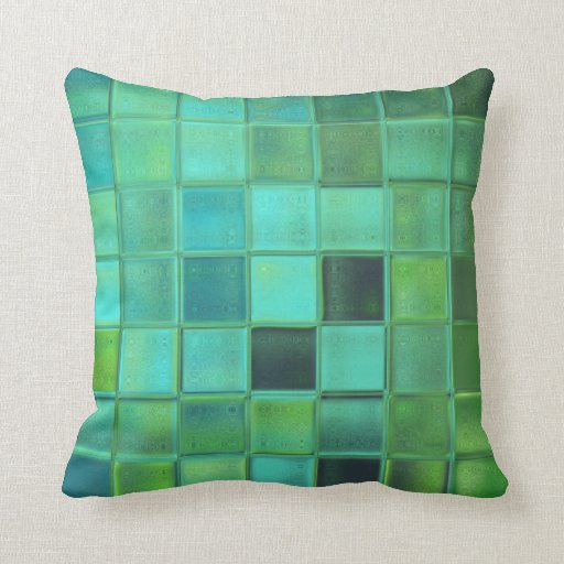 Sea Glass Mosaic Pillow Home Decor Gift Zazzle
