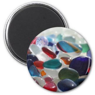 Sea Glass Multi's 2 Inch Round Magnet