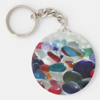 Sea Glass Multi's Basic Round Button Keychain