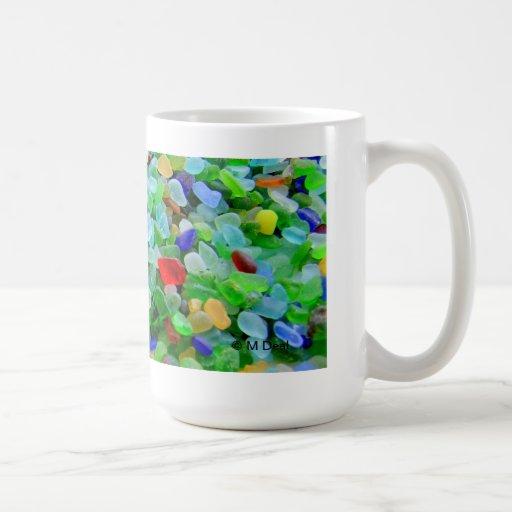 Sea glass mural coffee mug zazzle for Mural coffee