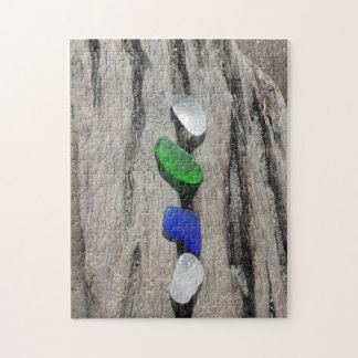 Sea Glass On Wood Puzzle
