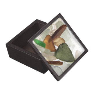 Sea Glass or Beach Glass Jewelry Trinket Box Premium Keepsake Boxes