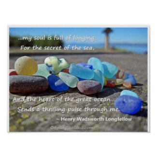 Sea Glass Poster - with Quote