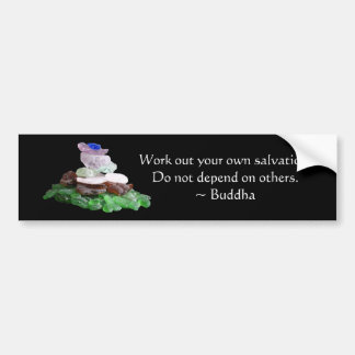 Sea Glass Pyramid With Buddha Quote Bumper Sticker