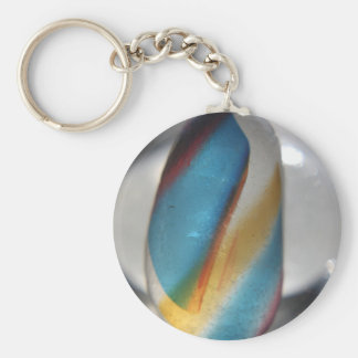 Sea glass Rainbow Basic Round Button Keychain