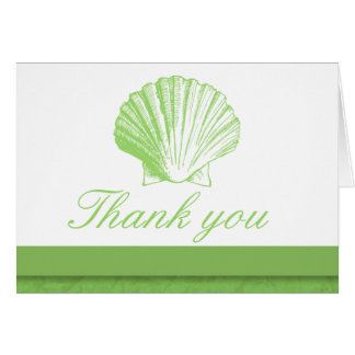 Sea Glass Sea Shell Thank You Note Cards