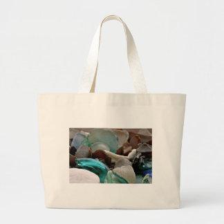 Sea Glass Shards Large Tote Bag
