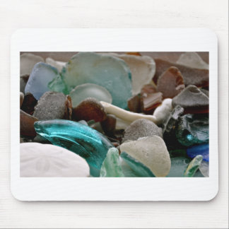Sea Glass Shards Mouse Pad