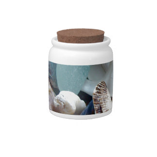 Sea Glass Shell Collected Candy Jars