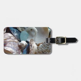 Sea Glass Shell Collected Luggage Tag