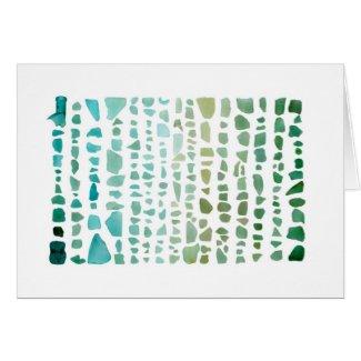 Sea Glass Spectrum: Aquamarine to Emerald notecard