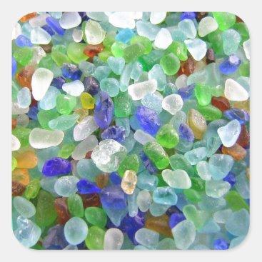 IslandImageGallery Sea Glass Square Sticker