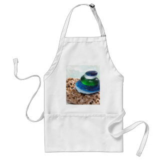 Sea Glass stack Adult Apron