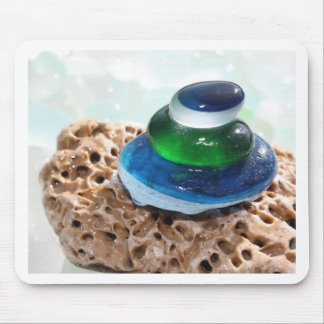Sea Glass stack Mouse Pad