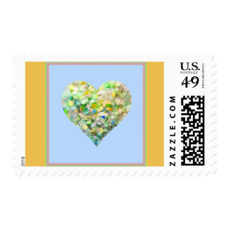 Sea Glass Stamp Real United States Postage