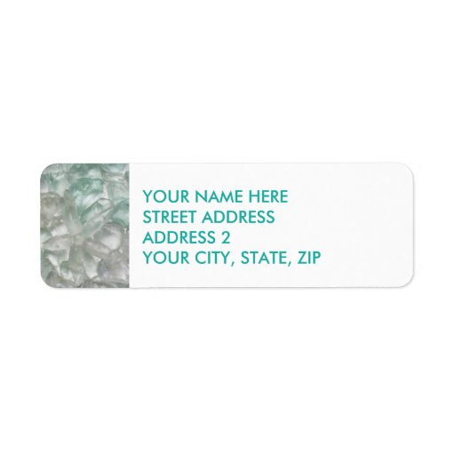 quotsea glassquot starfish four line address labels zazzle With 4 line address labels
