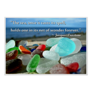 Sea Glass - The Sea Casts It's Spell Poster