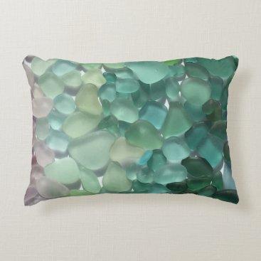 ElizabethBDesigns Sea Glass Throw Pillow
