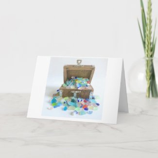 Sea Glass Treasure Chest Card
