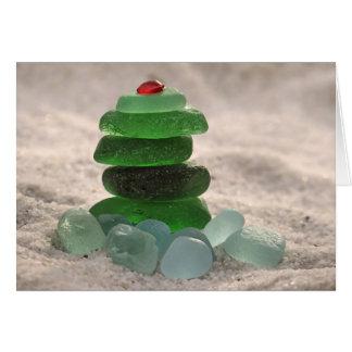 Sea Glass Tree Card
