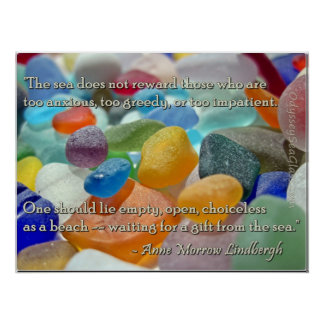Sea Glass - Waiting for a Gift from the Sea Poster
