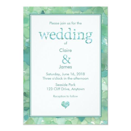 Sea Glass Wedding Invitation