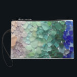 "Sea Glass Wristlet<br><div class=""desc"">Carry a sea glass collection everywhere you go! This little clutch features of rainbow of sea glass collected on the shores of Puerto Rico.</div>"
