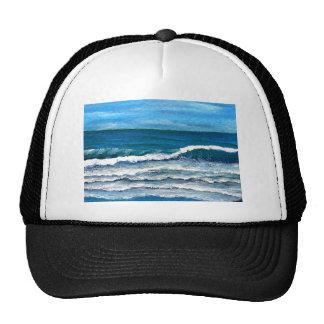 Sea Glory Beach Art Decor Surf Ocean Waves Trucker Hat