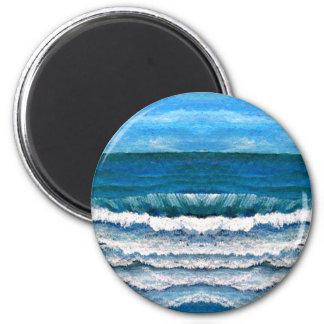 Sea Glory Ocean Waves Painting Art CricketDiane Magnet