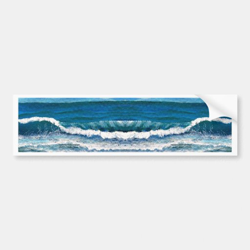 Sea Glory Ocean Waves Painting Art Products Car Bumper Sticker
