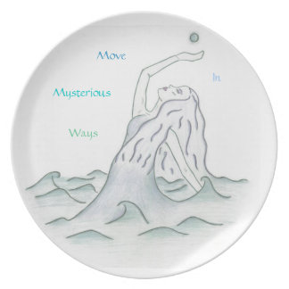 Sea Goddess with Moon Dinner Plate