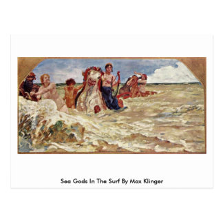 Sea Gods In The Surf By Max Klinger Post Card