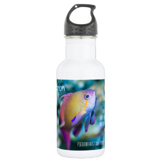 Sea goldie, colorful cute fish water bottle