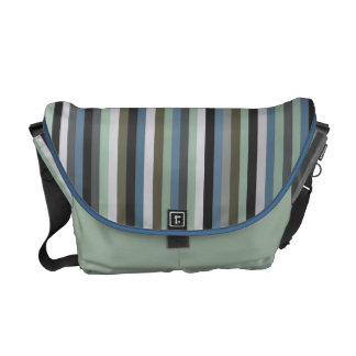 Sea Grass Stripes Pattern Messenget Bag
