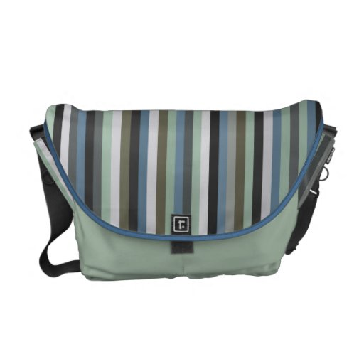 Sea Grass Stripes Pattern Messenget Bag Courier Bags