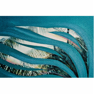 Sea grasses, mixed media, collage on paper photo cut out