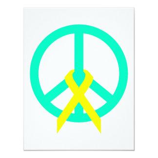 Sea Greeen Peace & Ribbon Card