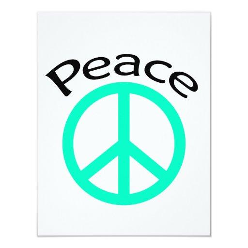 Sea Greeen Peace & Word Card