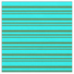 [ Thumbnail: Sea Green and Aqua Colored Pattern Fabric ]
