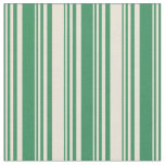[ Thumbnail: Sea Green and Bisque Colored Lines Fabric ]