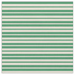 [ Thumbnail: Sea Green and Bisque Colored Pattern Fabric ]